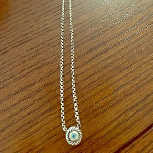 David Yurman sterling silver cookie necklace